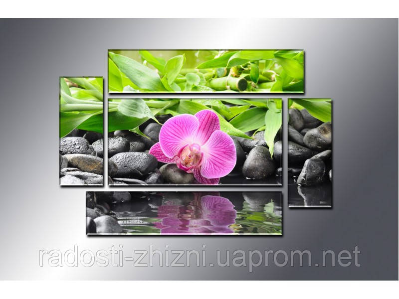 """Модульная картина """"Орхидея"""" фотопечать на холсте"""