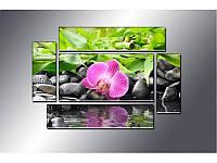 """Модульная картина """"Орхидея"""" фотопечать на холсте, фото 1"""