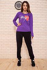 Спорт брюки женские 119R604-1 цвет Черно-фиолетовый, фото 2