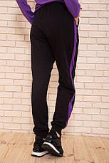 Спорт брюки женские 119R604-1 цвет Черно-фиолетовый, фото 3