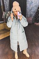 Женское модное объемное пальто на зимний сезон