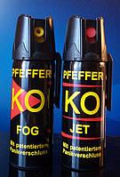 Оригинальные немецкие газовые баллончики PFEFFER KO JET и FOG 50 ml