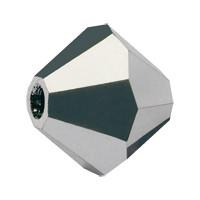 Хрустальные биконусы Preciosa (Чехия) 4 мм Jet Light Hematite full (полное покрытие)