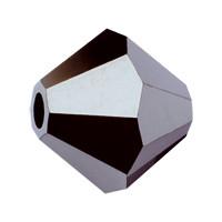 Хрустальные биконусы Preciosa (Чехия) 4 мм Jet Hematite Half (частичное покрытие)