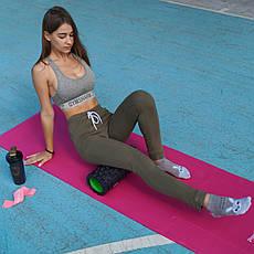 Ролер масажний Power System Fitness Foam Roller PS-4050 Black/Green, фото 2