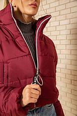 Куртка женская 129R100 цвет Бордовый, фото 3