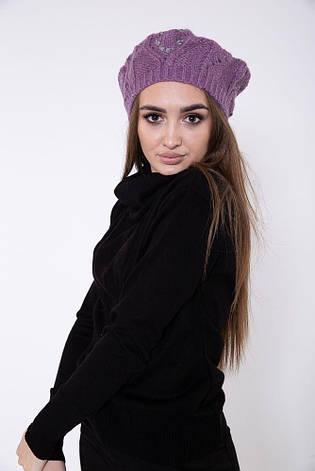 Шапка женская 126R011 цвет Фиолетовый, фото 2