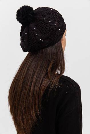 Шапка женская 126R008 цвет Черный, фото 2