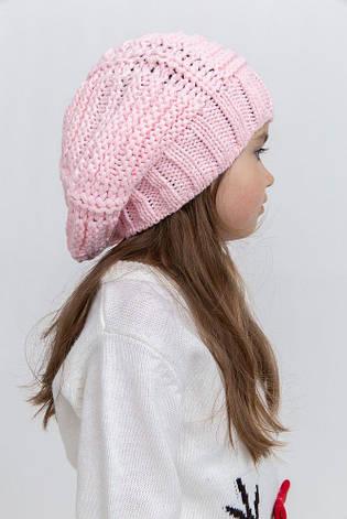 Шапка детская 126R004 цвет Розовый, фото 2