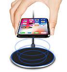 Беспроводная зарядка для телефона Wi-smart Fast 2 Qi для наушников для Iphone для Android с подсветкой быстрая, фото 4