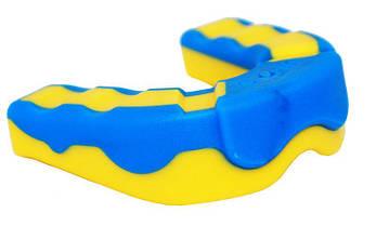 Капа боксерська PowerPlay 3301 JR Жовто-Синя, фото 2