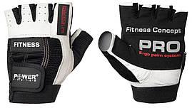 Рукавички для фітнесу і важкої атлетики Power System Fitness PS-2300 XL Black/White, фото 3