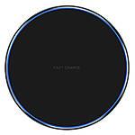 Беспроводное зарядное устройство Wi-smart Fast 2 Qi для телефона, наушников Iphone, Android с LED подсветкой, фото 4