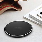 Беспроводное зарядное устройство Wi-smart Fast 2 Qi для телефона, наушников Iphone, Android с LED подсветкой, фото 5