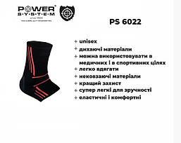 Эластический Голеностоп Power System Ankle Support Evo PS-6022 M Black/Orange, фото 3