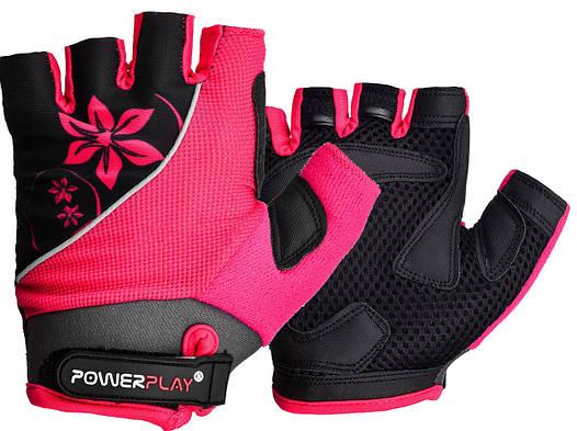 Велорукавички PowerPlay 5281 Рожеві XS, фото 2