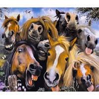 """Картина по номерам """"Прикольные лошадки"""" 40×50 см"""
