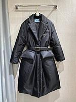 Пуховик Prada, новая коллекция с поясом M,L