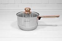 Набор кастрюль со сковородой с крышками и фритюром Goldteller GT-1330 на 13 предметов, 9-ти ступенчатое дно, фото 6