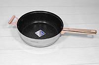 Набор кастрюль со сковородой с крышками и фритюром Goldteller GT-1330 на 13 предметов, 9-ти ступенчатое дно, фото 8