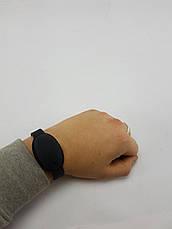 Универсальный силиконовый браслет для антисептика (ЧЕРНЫЙ), фото 3