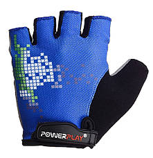 Велорукавички PowerPlay 002 D Сині M, фото 2