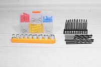 Шуруповерт аккумуляторный DeWALT DCD771 и набор инструментов в кейсе 01, фото 6