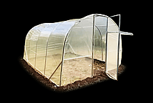 Теплица «Веган» 4х10х2.2м из оцинкованной квадратной трубы с пленкой 150 мкм