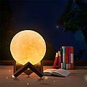 """Качественный увлажнитель воздуха """"Луна"""" 3D moon lamp light, фото 4"""