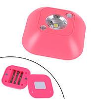 LED светильник лампа с датчиком движения и фоторезистором, розовый, P5