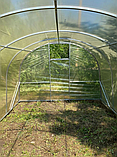 Теплиця «Веган» 4×10 з квадратної оцинкованої труби з плівкою 150 мкм, фото 3