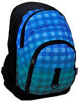 Рюкзак PASO в клетку 33 л Синий Серый 14-1208C, КОД: 298532