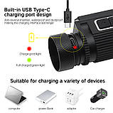 Налобный фонарь Boruit B39 с магнитом и USB Type-C + Аккумулятор 21700 (XM-L2+XP-G2*2шт, 5000лм, IPX4), фото 2