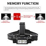Налобный фонарь Boruit B39 с магнитом и USB Type-C + Аккумулятор 21700 (XM-L2+XP-G2*2шт, 5000лм, IPX4), фото 3