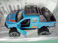 Игрушка Джип синий металлический, фото 1
