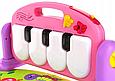 """Развивающий музыкальный коврик """"Пианино"""" HE0603-HE0604 с подвесными игрушками Розовый, фото 8"""