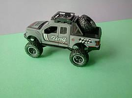 Сірий іграшковий Джип металевий