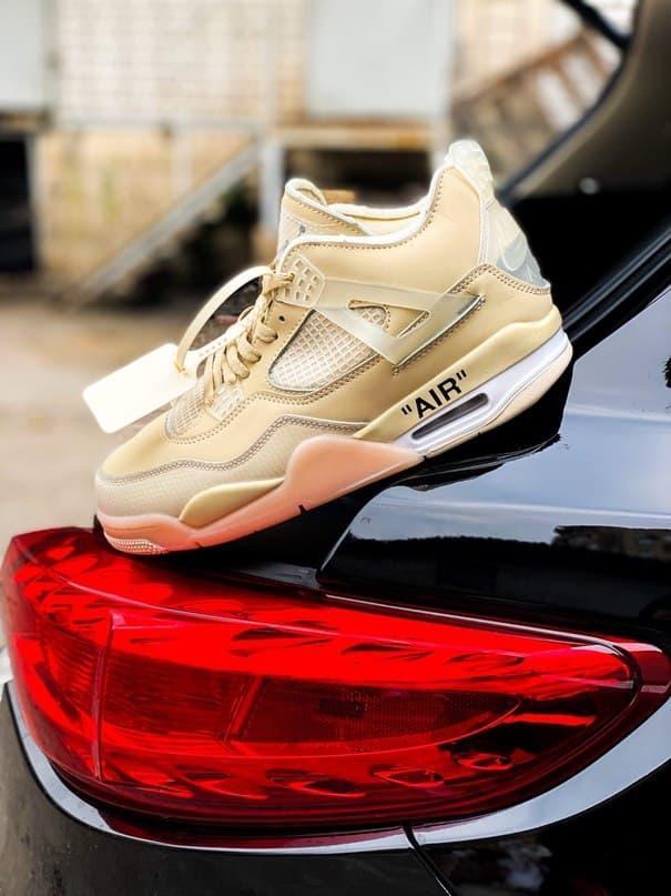 Кросівки Nike Air Jordan Retro 4 Beige / Джордан Бежеві