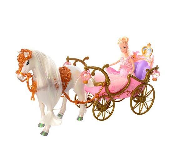 Кукла в карете с лошадкой 209 A
