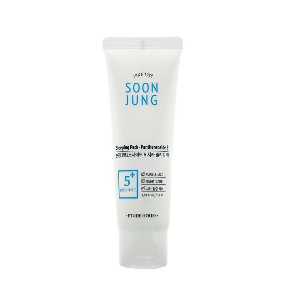 Ночная маска для чувствительной кожи лица Etude House Soon Jung Sleeping Pack Panthensoside 5 50 мл