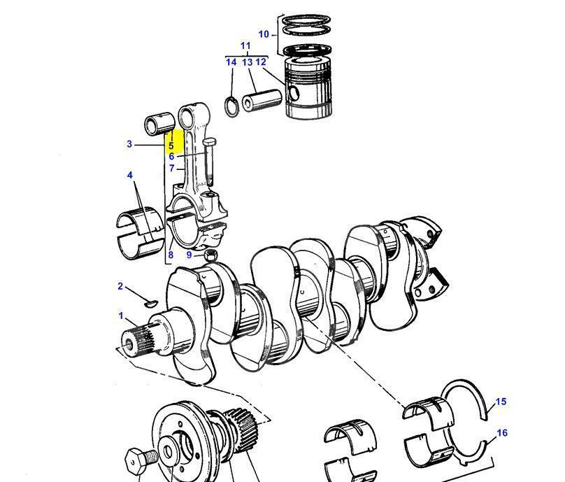 Втулка шатуна поршня (двигун Perkins 4.212, 4.236, 4.248, 6.354) 31134123