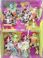 Игровой набор черепашки-ниндзя 4 фигурки с аксессуарами и машинками, фото 1