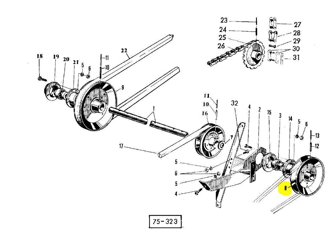Шків приводу коси Massey Ferguson 1722611M91