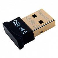 USB Bluetooth адаптер 4.0 для ноутбука, комп'ютера Чорний, фото 1