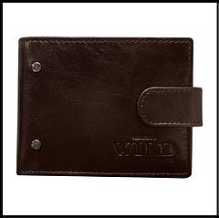 Кошелек мужской кожаный  Always Wild код 504 коричневый RFID Secure