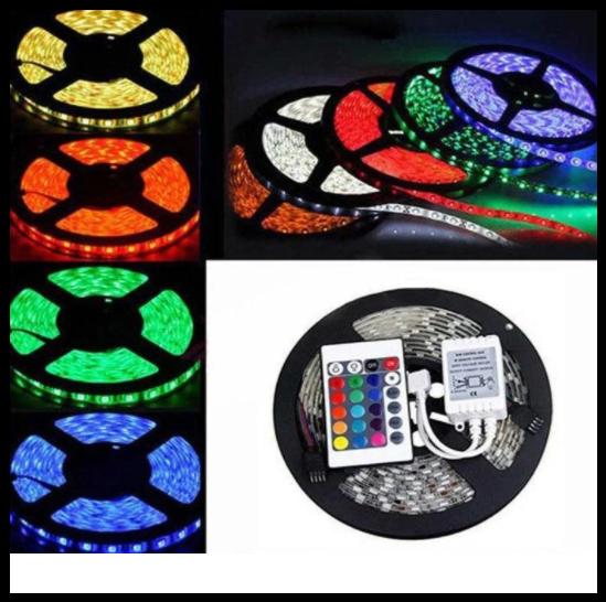 Світлодіодна стрічка LED 5050 RGB комплект 5 метрів, різнобарвна | LM321013