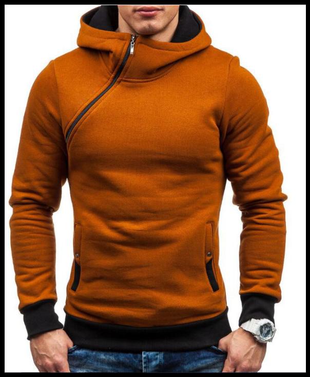 Толстовка , реглан, куртка с капюшоном размер L  Код 64 коричневая