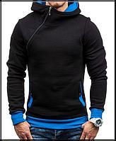 Толстовка , реглан, куртка с капюшоном размер L, XL   Код 64 чёрная, фото 1