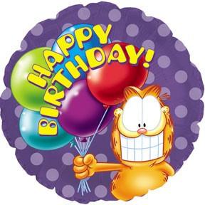 """CTI 18"""" Garfield Birthday Balloons. Фольгированный шар Гарфилд С Днем рождения. В уп"""