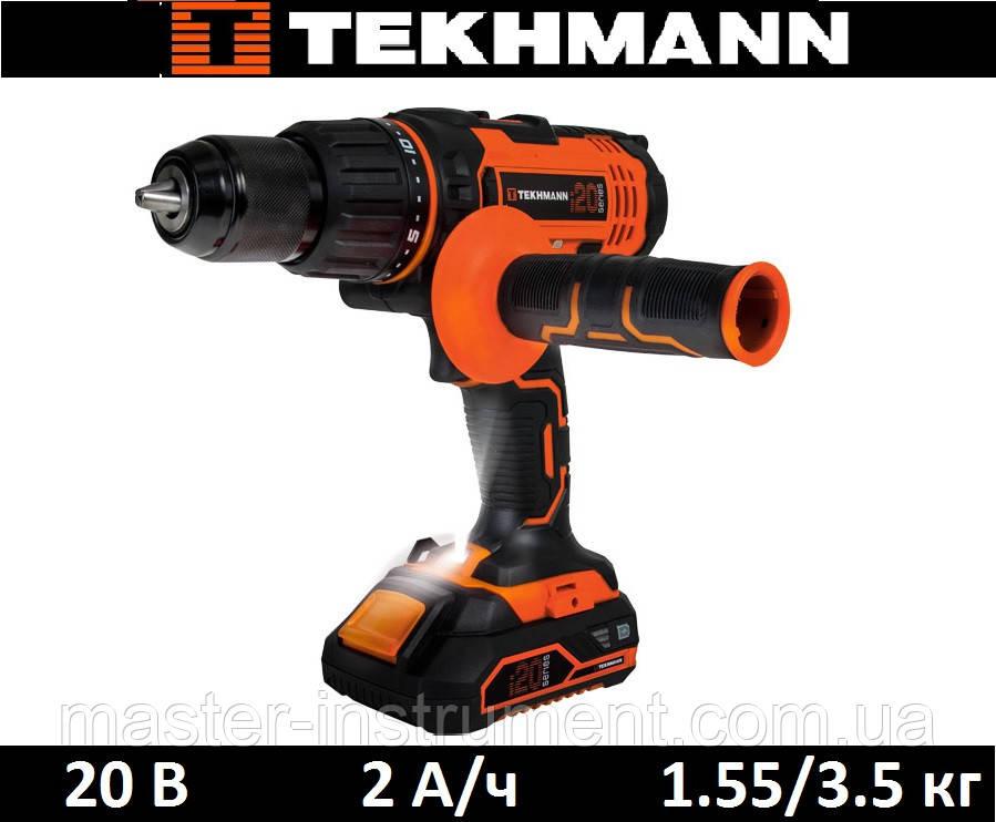 Шуруповерт аккумуляторный Tekhmann TCD-60/i20 kit